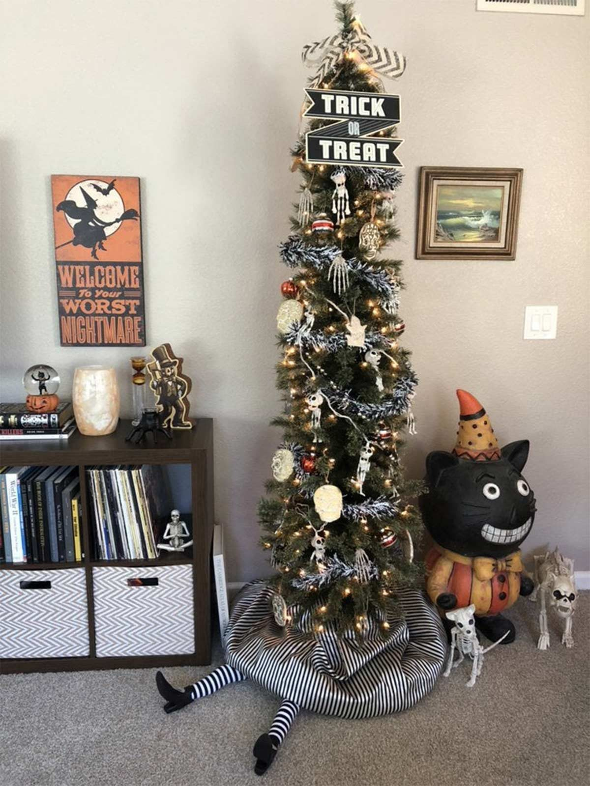 The Latest Holiday Trend Halloween Christmas Trees