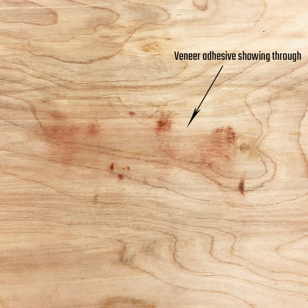 Adhesive showing through after sanding plywood | Construction Pro Tips