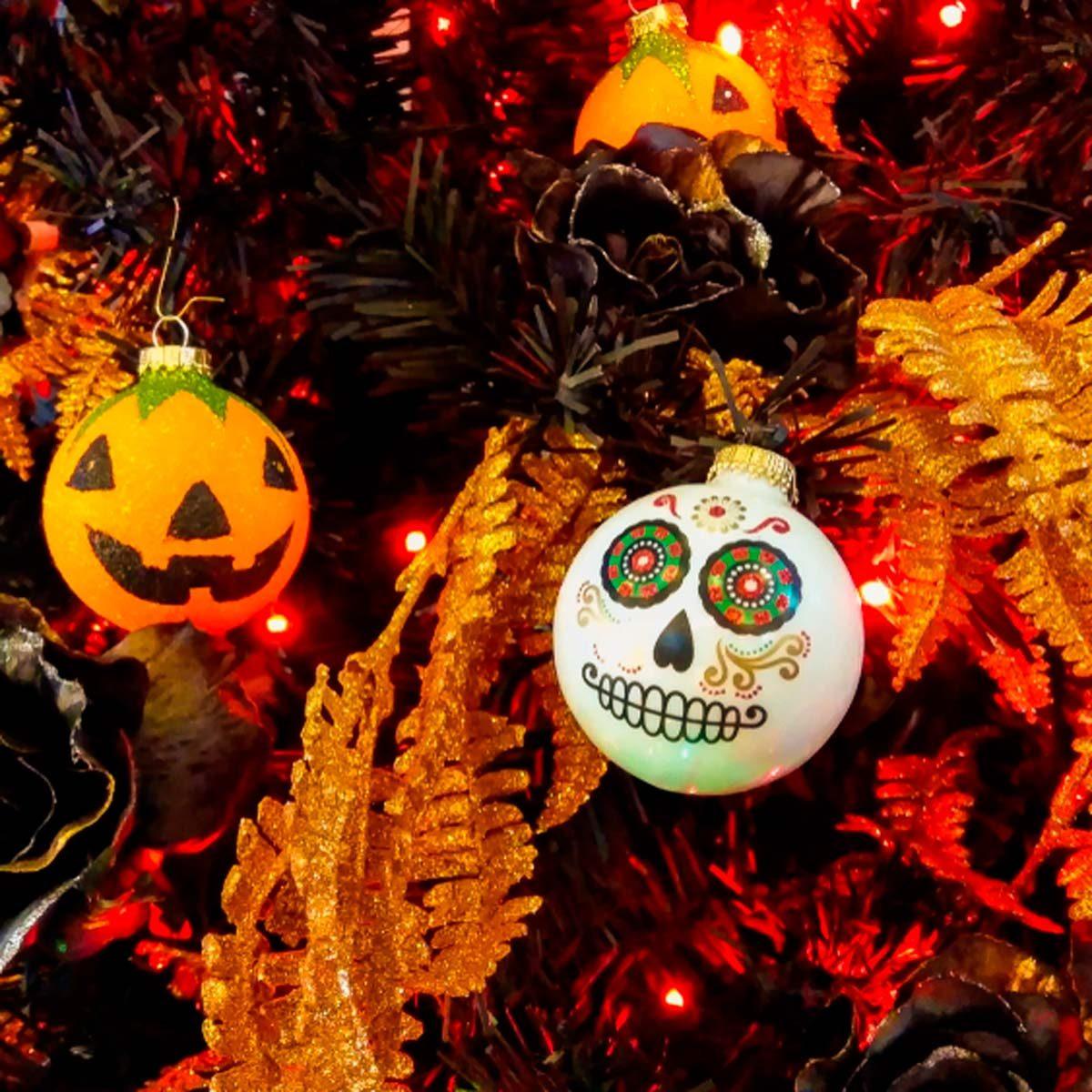 Christmas Halloween.The Latest Holiday Trend Halloween Christmas Trees