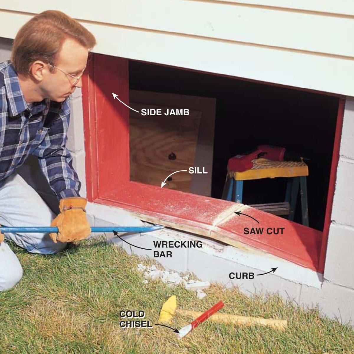 Installing Gl Block Windows In Basement The Family Handyman