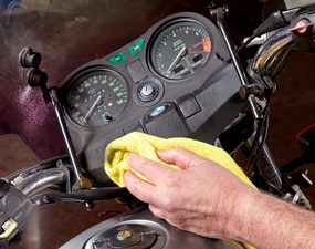 clean motorcycle dash