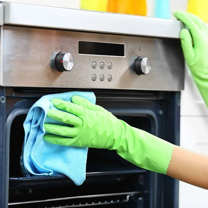 cleaning oven