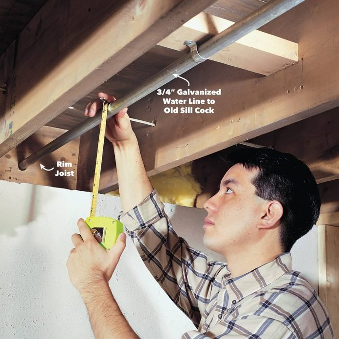 measure existing pipe