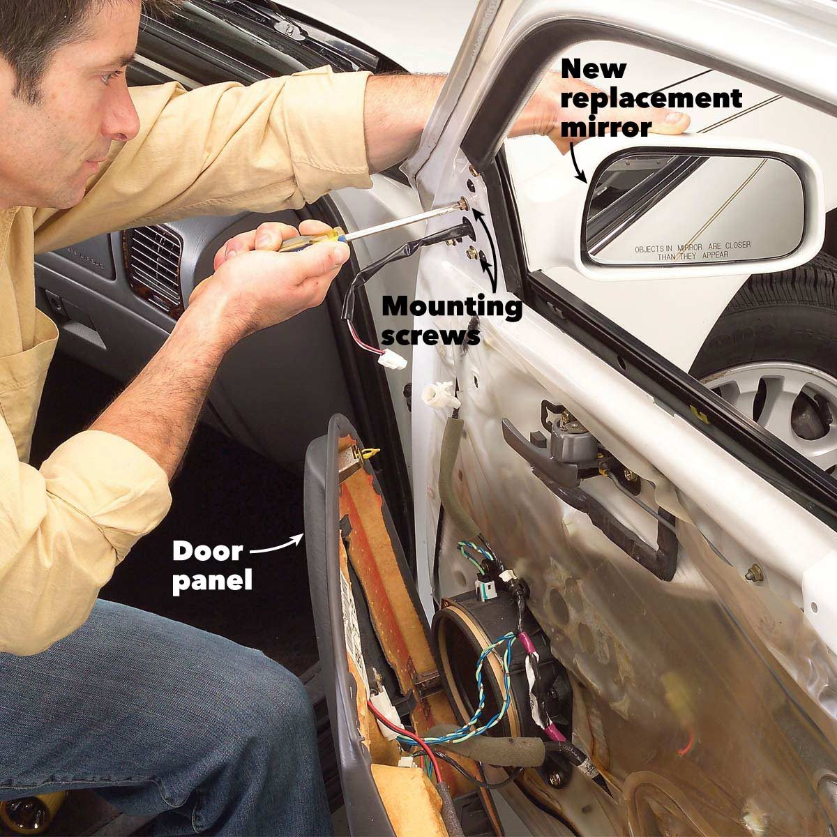 Side Mirror Repair >> Replace A Broken Side View Mirror The Family Handyman