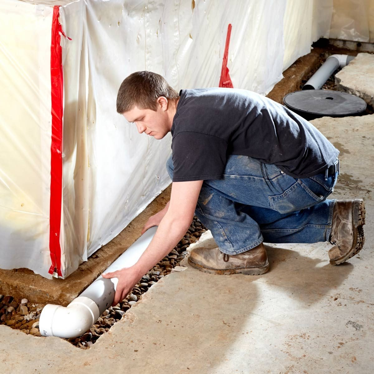How To Waterproof A Basement Install A Basement Drainage