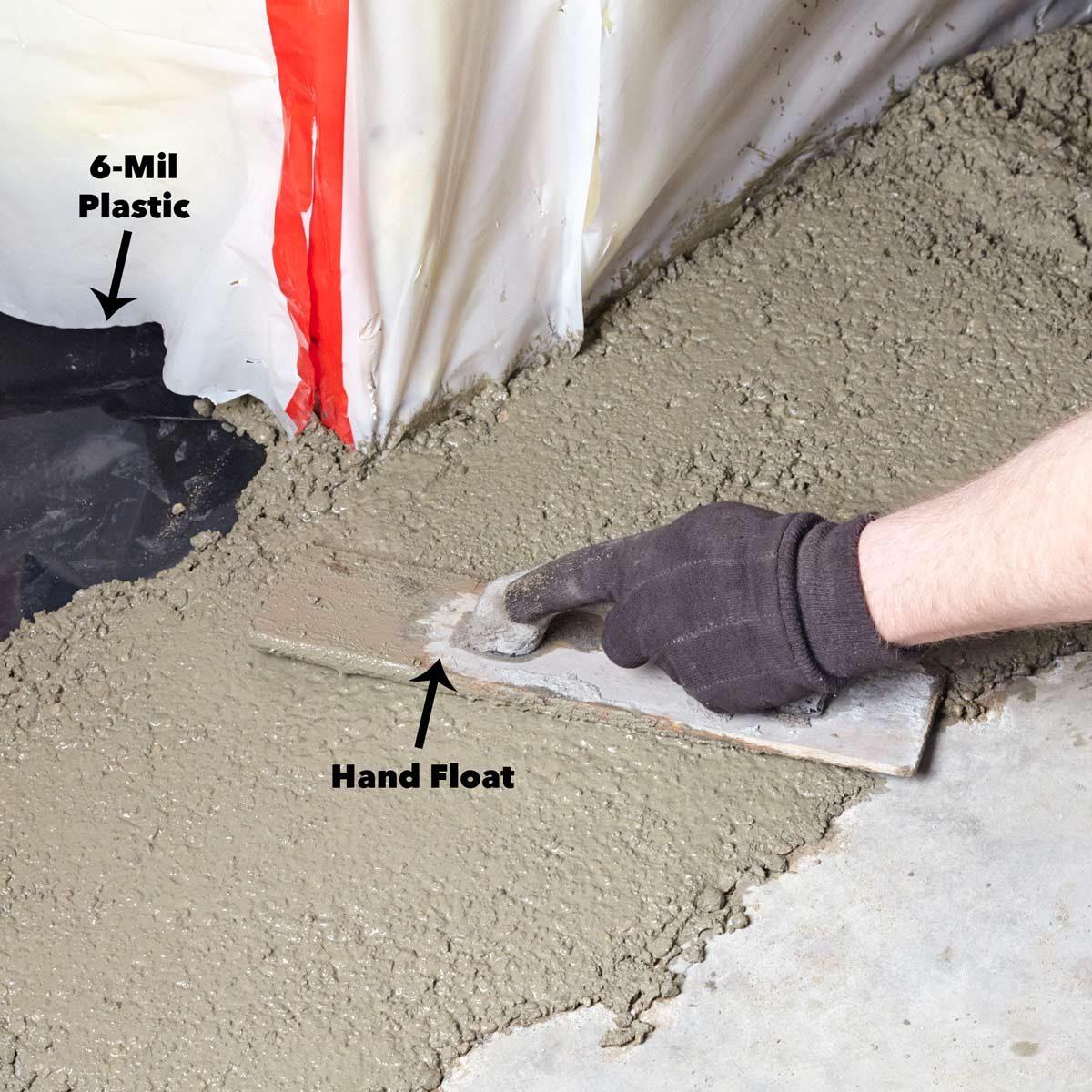 6 mil plastic wrap foundation
