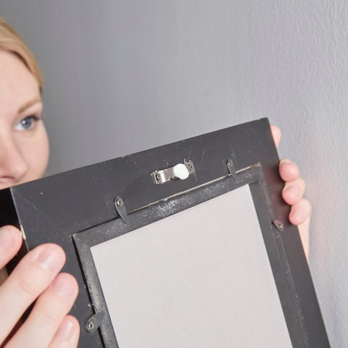 HH handy hint toothpaste picture frame