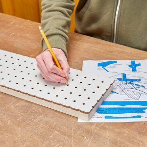 How to Use Pegboard to Enlarge Project Plans