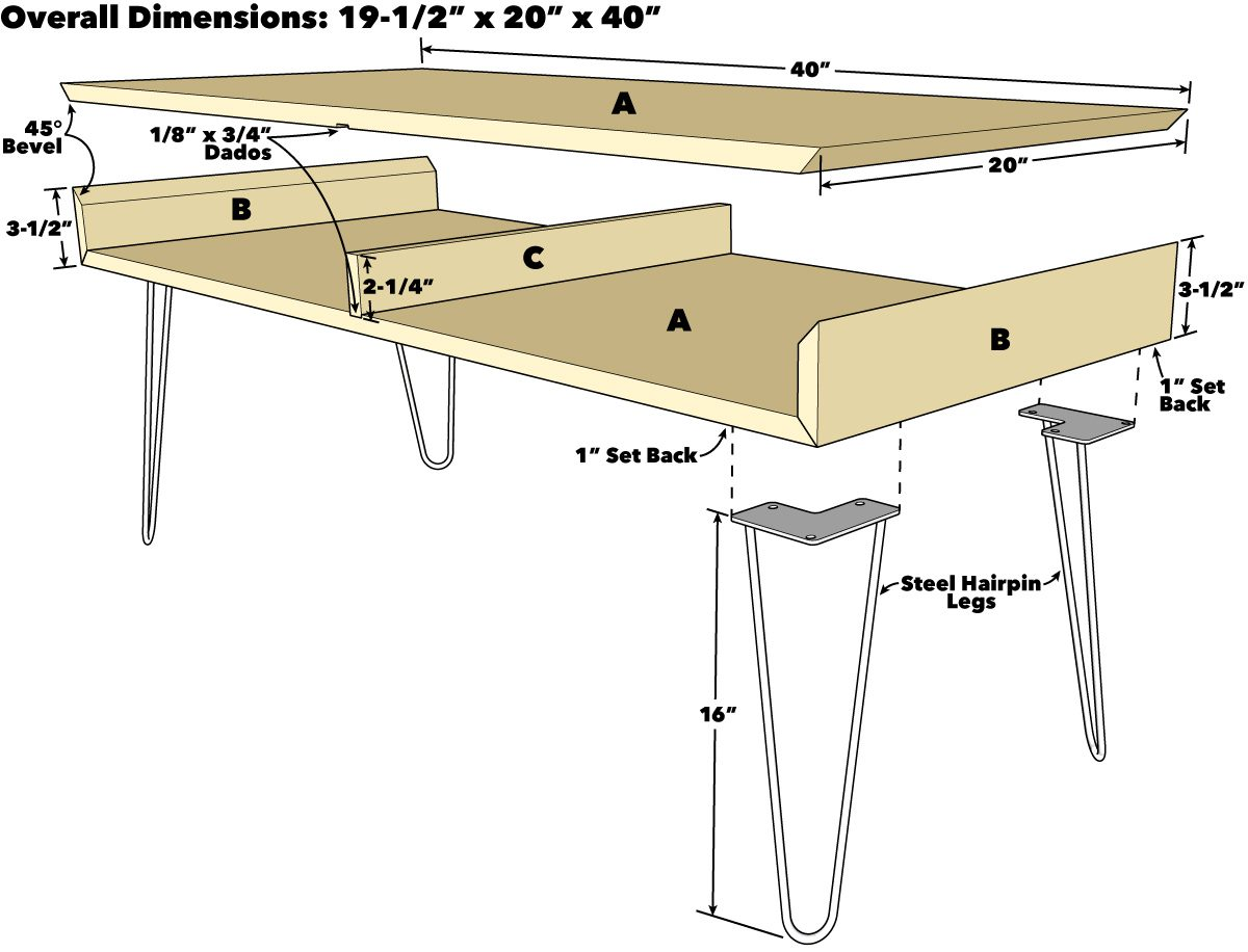 How To Build A Hairpin Leg Coffee Table Diy