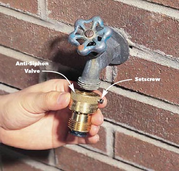 Install an Anti-siphon Valve on an Existing Sill Cock