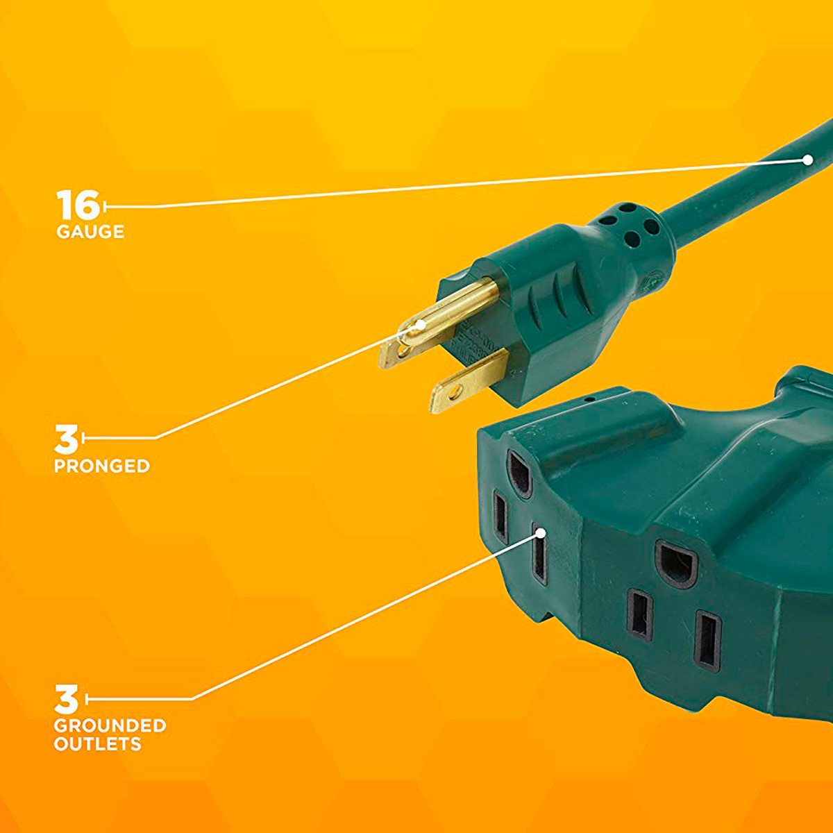 The 5 Best Extension Cords For Outdoor Christmas Light Displays Wiring Shed Cord Woods 8 Foot With 3 Outlets