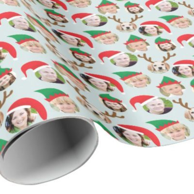 wrapping paper with photos