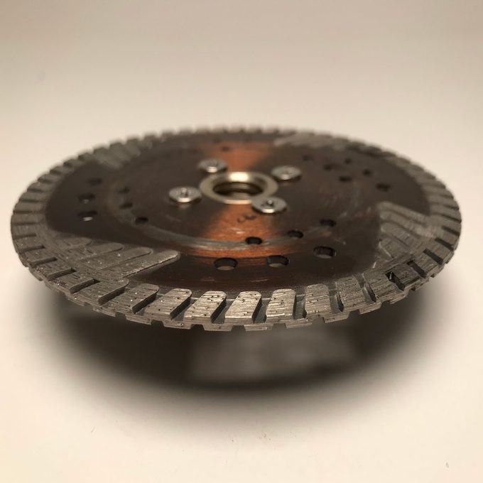 A serrated diamond blade   Construction Pro Tips