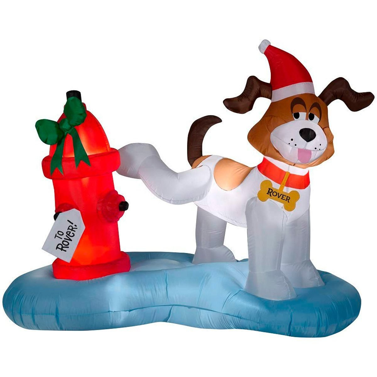 dog vs hydrant this 6 foot christmas inflatable