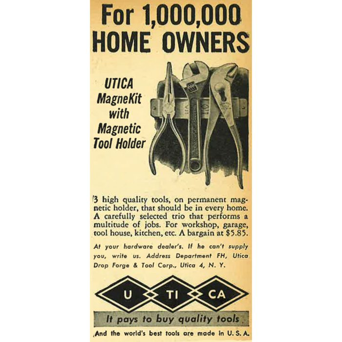 A vintage ad for a magnetic tool holder   Construction Pro Tips