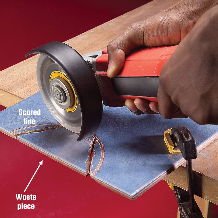 Cutting off the extra tile when starting a semi-circular cut | Construction Pro Tips
