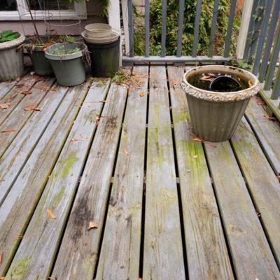 debris on deck