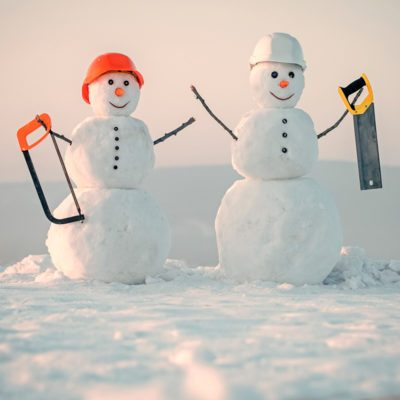 snowmen with tools