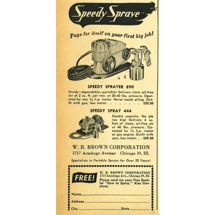 A vintage ad for a speedy spray painter   Construction Pro Tips