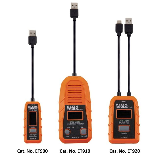 Three Klein Tools USB port testers | Construction Pro Tips