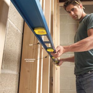 How to Straighten Bowed Stud Walls