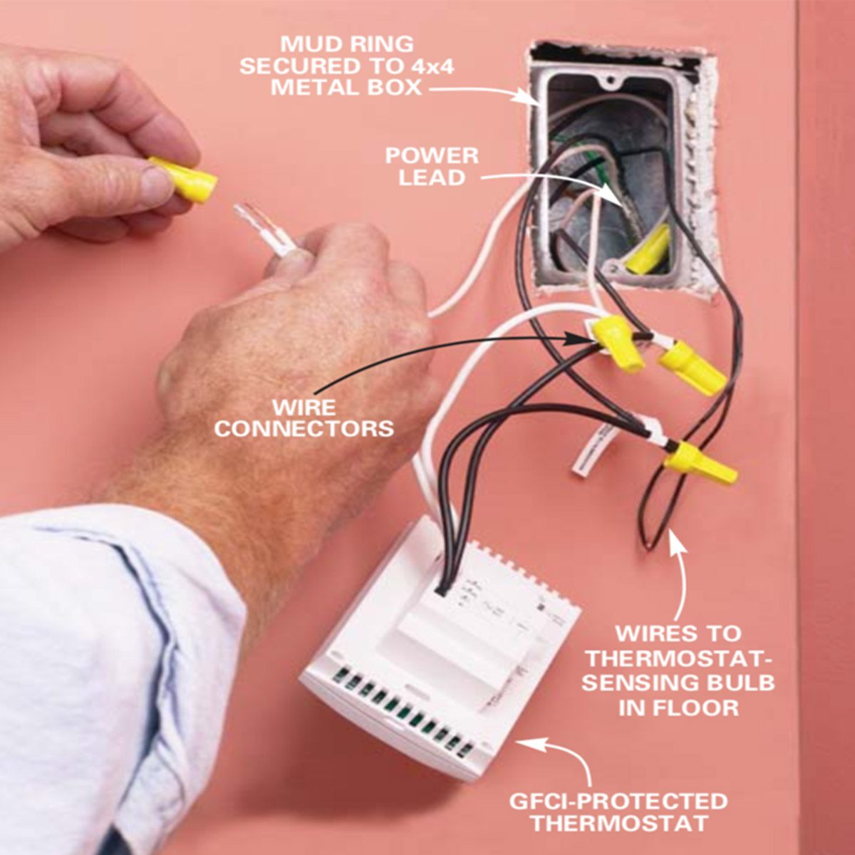 Floor Electric Heat Wiring Home Diagrams Baseboard Heater How To Install In Radiant Installation The Family 240v Diagram