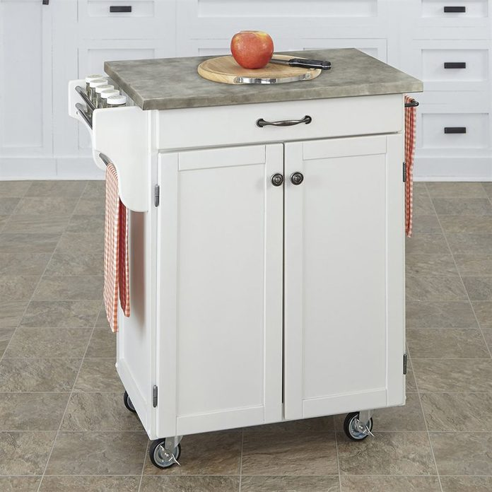 Home Styles White Scandinavian Kitchen Carts