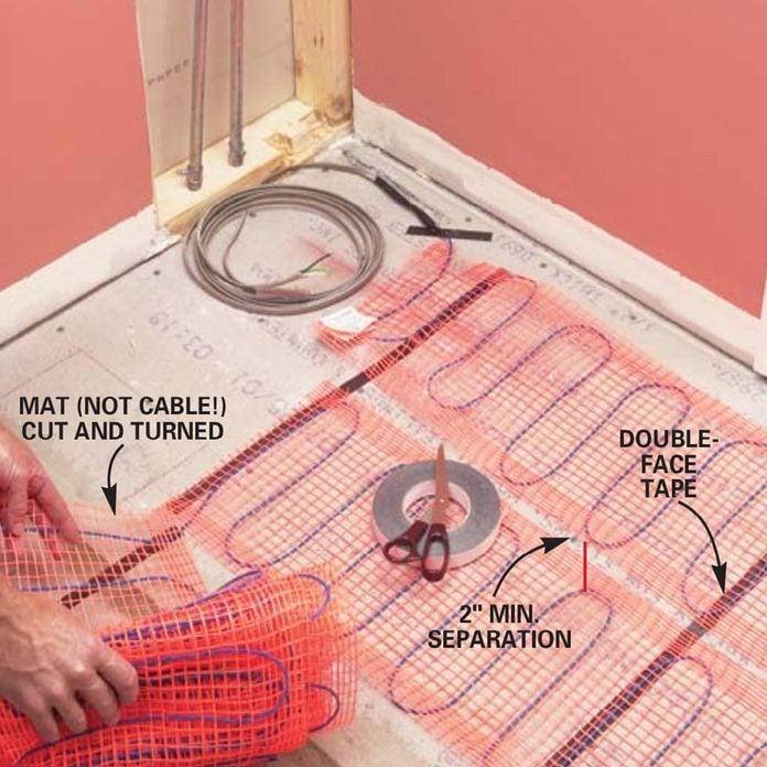 How To Install In Floor Heat Radiant, Installing Heated Floor In Bathroom