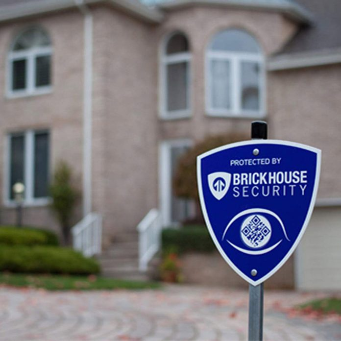 Brickhouse Security Blue Shield Home Surveillance Yard Sign