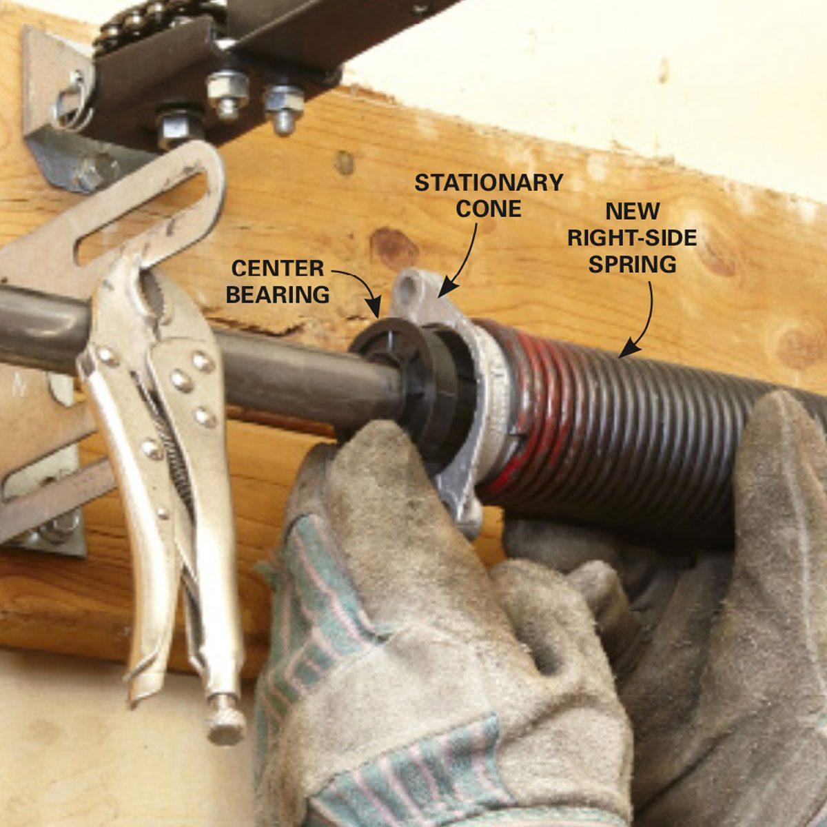Install a new center bearing