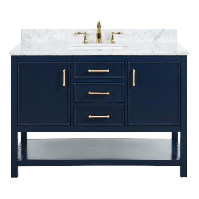 allen + roth Presnell Navy Blue Single Sink Vanity