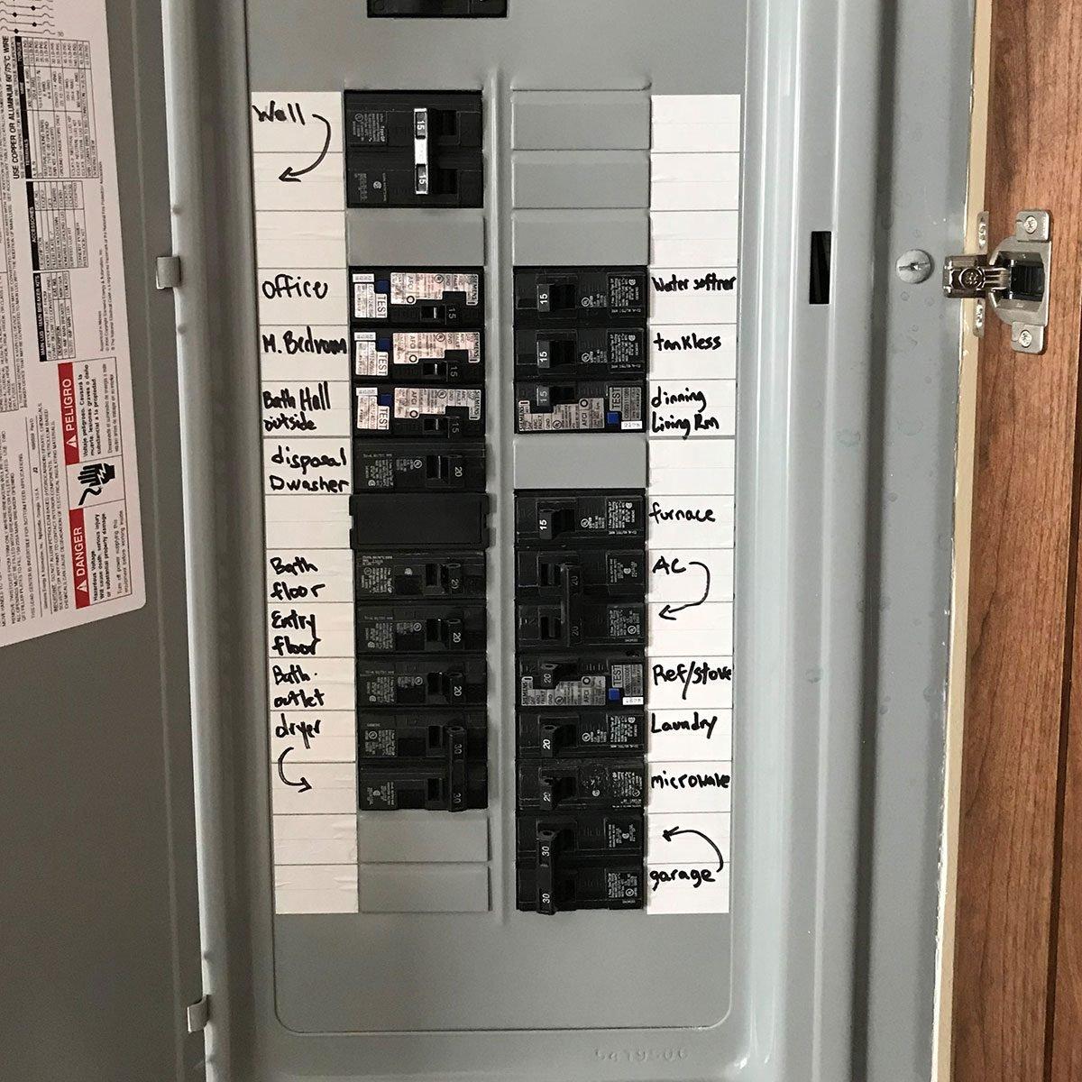 Labeled circuit breakers