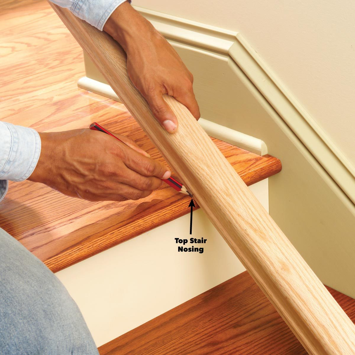 stair rail installation for home | Install a New Stair Handrail