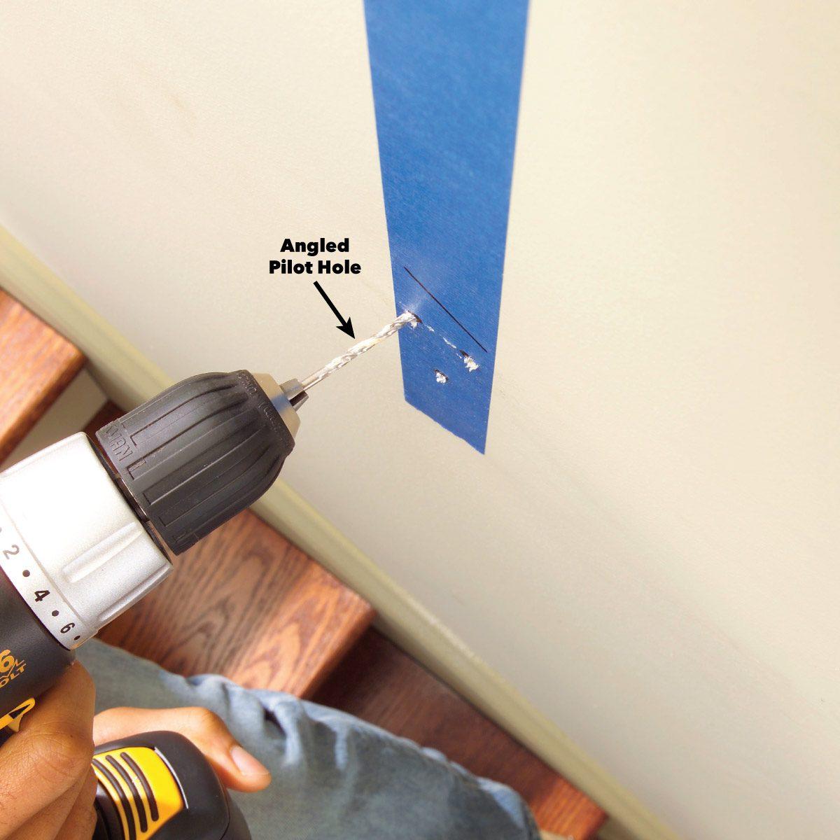 drill pilot holes