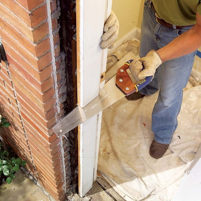 remove door jam with saw