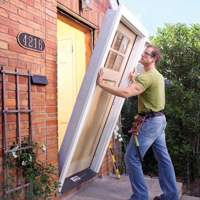pre hung door installation