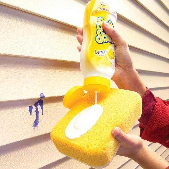 vinyl siding wash sponge clean tough stains