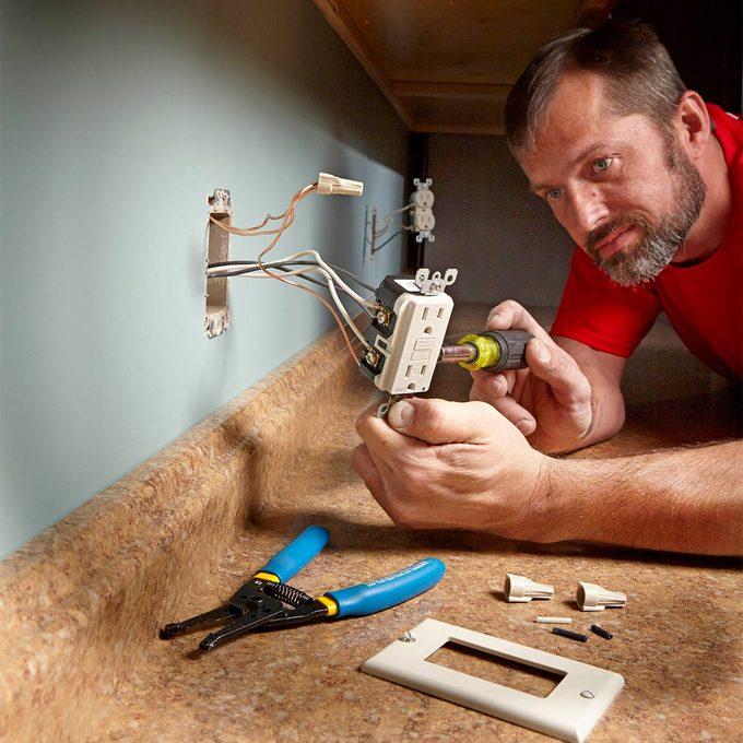 Installing an outlet near a countertop   Construction Pro Tips