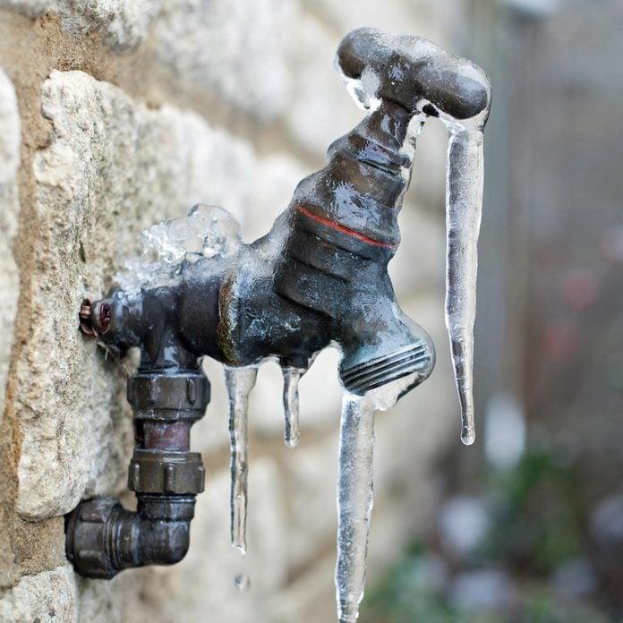 frozen drain