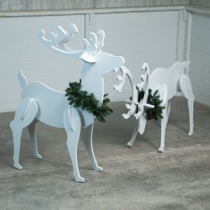 Saturday Morning Workshop: How to Make Plywood Reindeer