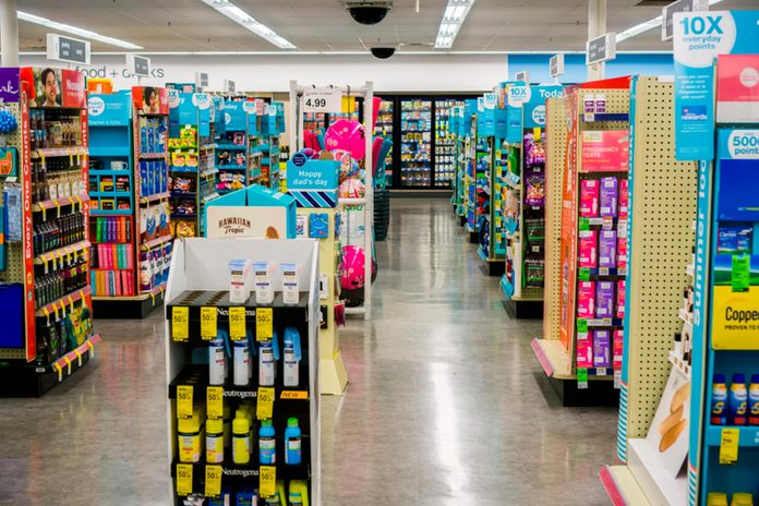 Interior of Walgreens store