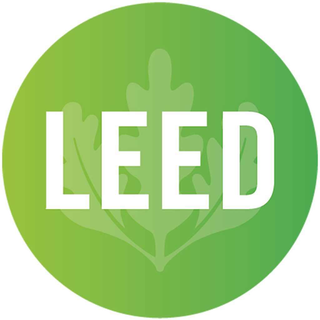 The logo for LEED certification | Construction Pro Tips