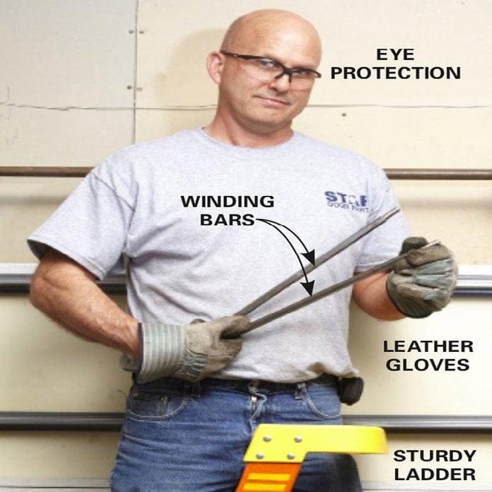 garage door repair safety attire