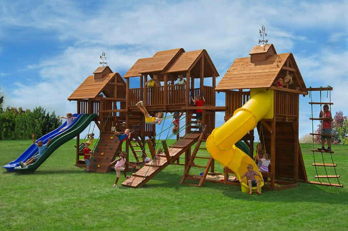 Kids Creations Adventure Mountain Redwood Playset - Installation Included