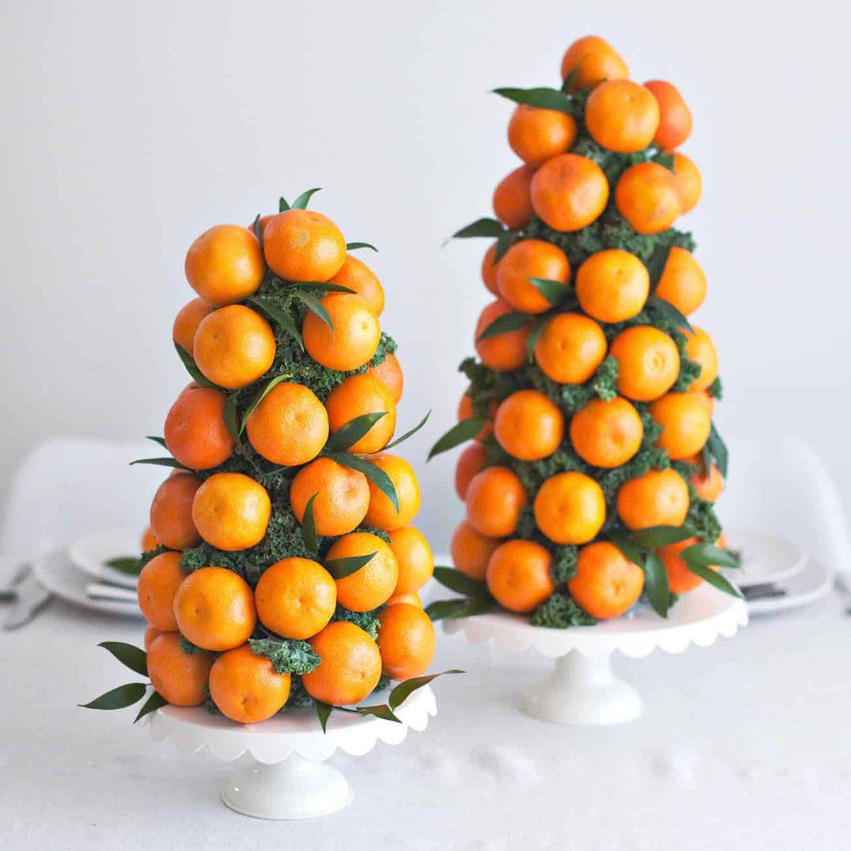 Orange and kale centerpiece