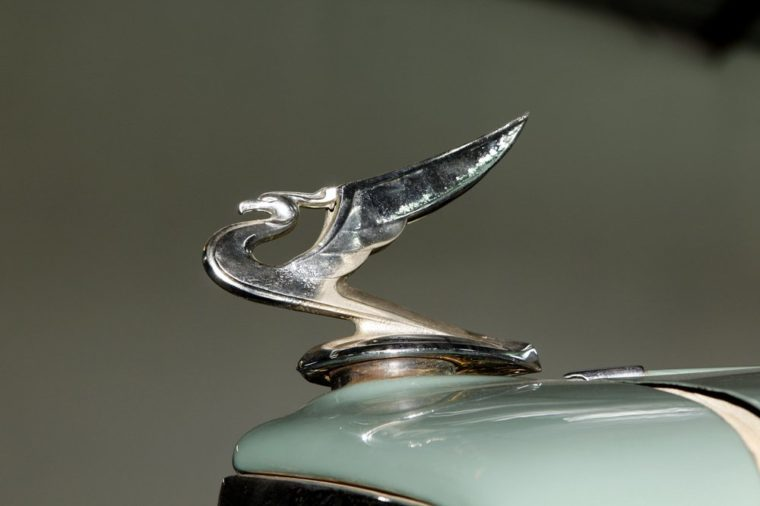 RUSTENBURG, SOUTH AFRICA - FEBRUARY 15: 1935 Vintage Car Chevrolet Hood Ornament in Private Collection Philip Classic Cars on February 15, 2014 in Rustenburg South Africa.
