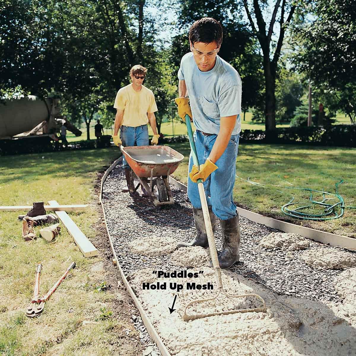 How to Pour a Concrete Sidewalk | The Family Handyman
