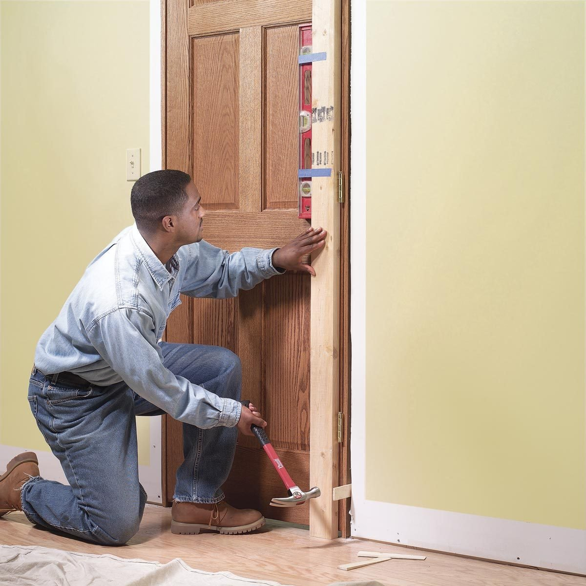 Family Handyman & How to Replace an Interior Door: Prehung Door Replacement | Family ...