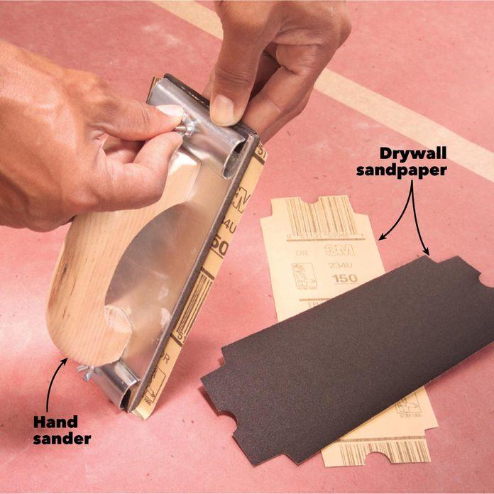 drywall sanding fine grit sandpaper