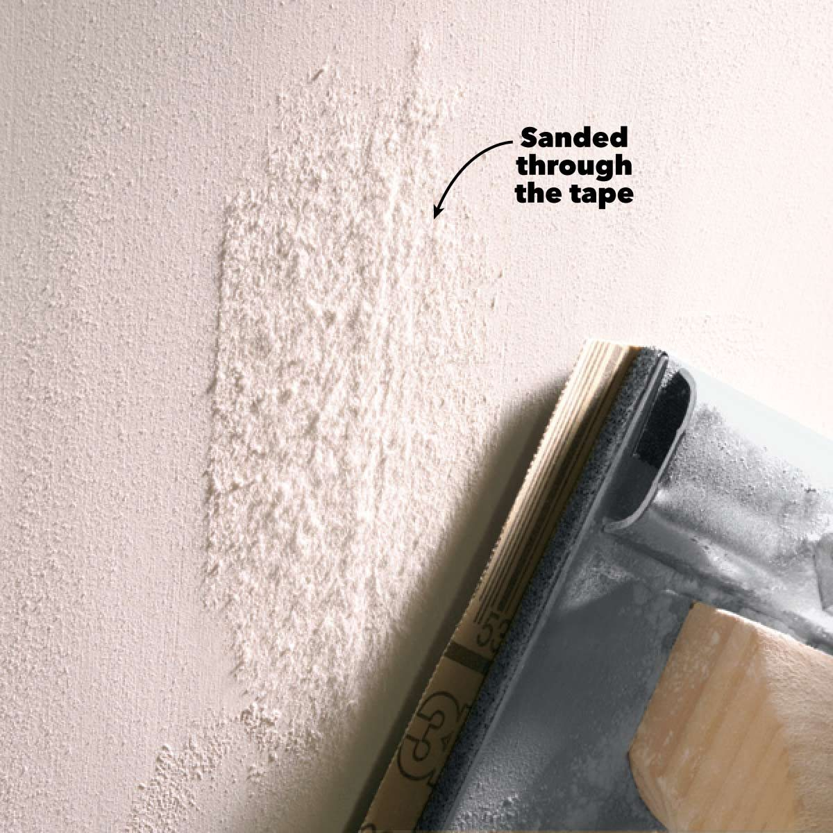 drywall sanding avoid over sanding